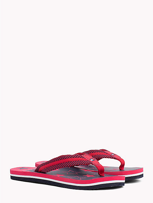 TOMMY HILFIGER Star Print Flip-Flops - RED/BLU - TOMMY HILFIGER Girls - main image