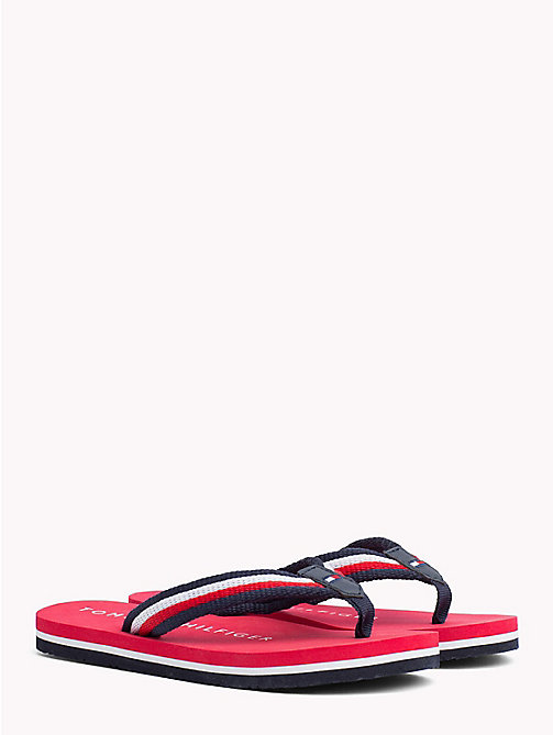 TOMMY HILFIGER Signature Flip-Flops - RED MULTICOLOR - TOMMY HILFIGER Boys - main image