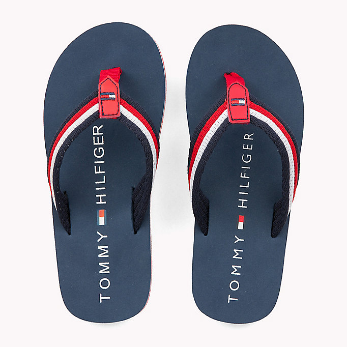 TOMMY HILFIGER Signature Flip-Flops - RED MULTICOLOR - TOMMY HILFIGER Kids - detail image 3