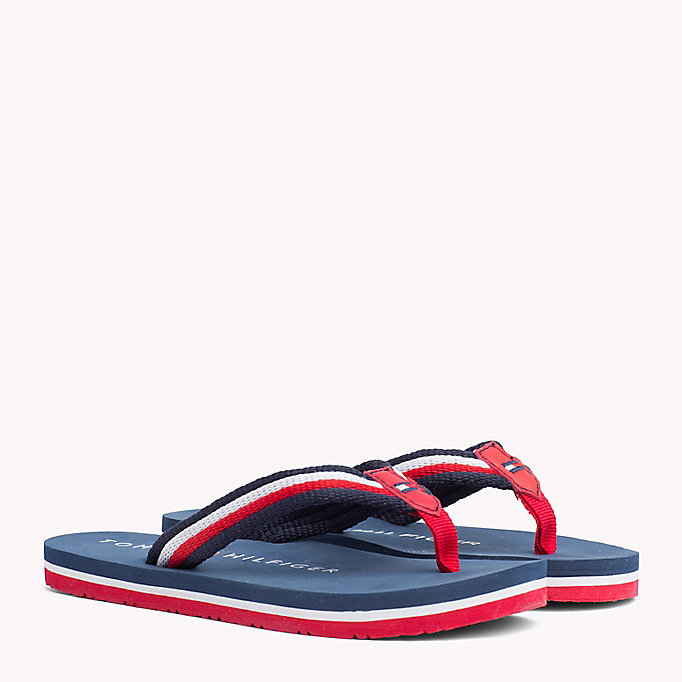 TOMMY HILFIGER Signature Flip-Flops - RED MULTICOLOR - TOMMY HILFIGER Kids - main image