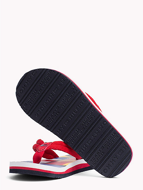 TOMMY HILFIGER Colour-blocked slipper met vlagpatroon - RED - TOMMY HILFIGER Jongens - detail image 1