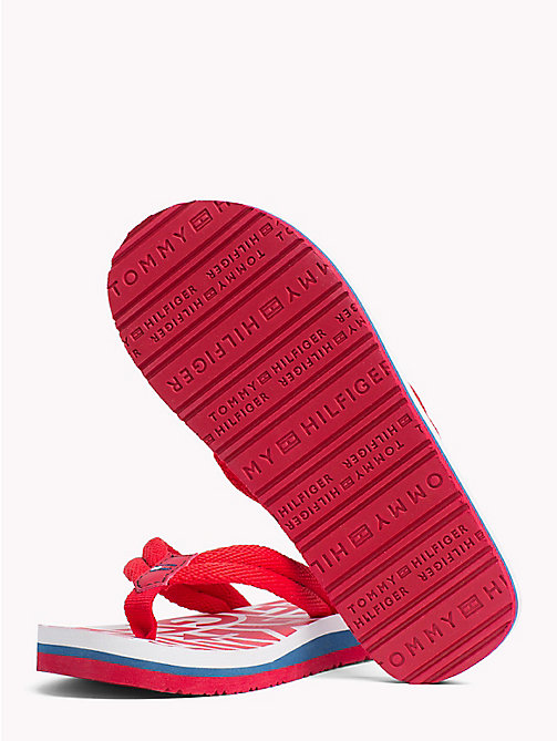 TOMMY HILFIGER Logomania slipper - RED - TOMMY HILFIGER Jongens - detail image 1