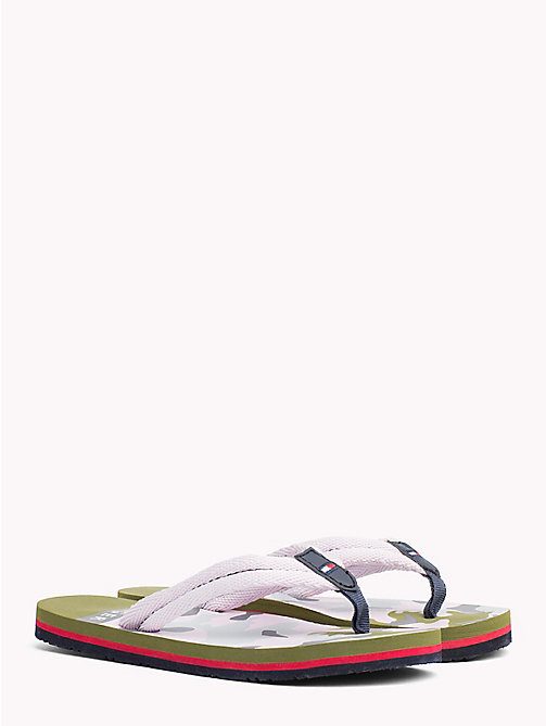 TOMMY HILFIGER Infradito camouflage con bandierina - CAMOU PINK - TOMMY HILFIGER Bambini - immagine principale
