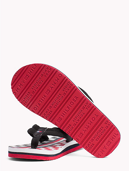 TOMMY HILFIGER Racing Flag Flip-Flops - BLACK - TOMMY HILFIGER Boys - detail image 1