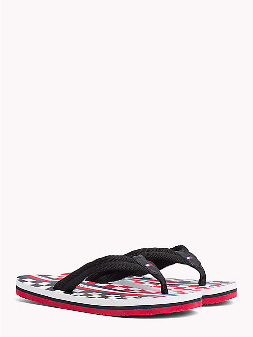 TOMMY HILFIGER Racing Flag Flip-Flops - BLACK - TOMMY HILFIGER Boys - main image