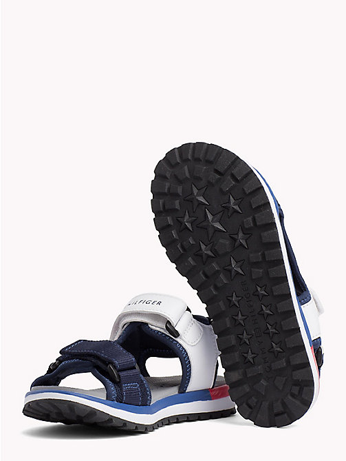 TOMMY HILFIGER Velcro Strap Signature Sandals - BLUE/WHITE - TOMMY HILFIGER Boys - detail image 1