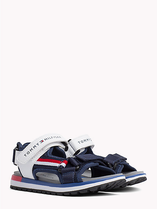 TOMMY HILFIGER Velcro Strap Signature Sandals - BLUE/WHITE - TOMMY HILFIGER Boys - main image