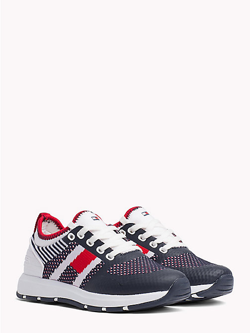 TOMMY HILFIGER Mesh Panel Trainers - BLUE/WHITE - TOMMY HILFIGER Shoes & Accessories - main image