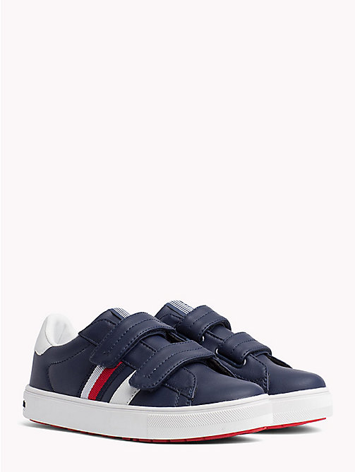 TOMMY HILFIGER Velcro Tennis Shoes - BLUE/WHITE - TOMMY HILFIGER Shoes & Accessories - main image