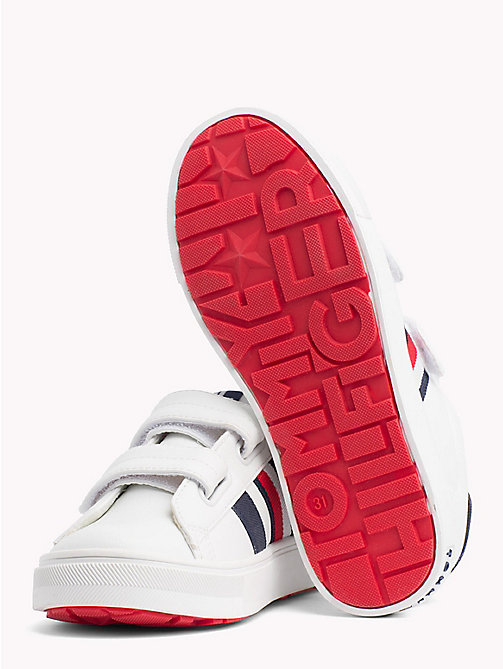 TOMMY HILFIGER Velcro Tennis Shoes - WHITE/ BLUE - TOMMY HILFIGER Shoes & Accessories - detail image 1