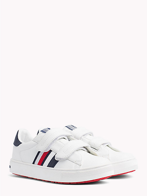 TOMMY HILFIGER Velcro Tennis Shoes - WHITE/BLUE - TOMMY HILFIGER Shoes & Accessories - main image