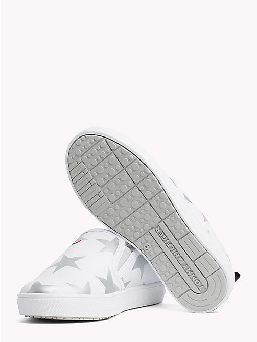 TOMMY HILFIGER Star Print Slip-Ons - WHITE/SILVER - TOMMY HILFIGER Girls - detail image 1