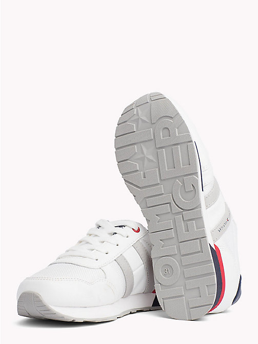 TOMMY HILFIGER Retro Lace-Up Trainers - BLUE/WHITE - TOMMY HILFIGER Shoes & Accessories - detail image 1