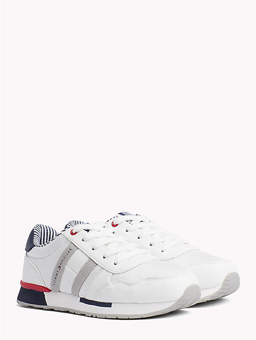 TOMMY HILFIGER Retro Lace-Up Trainers - BLUE/WHITE - TOMMY HILFIGER Shoes & Accessories - main image