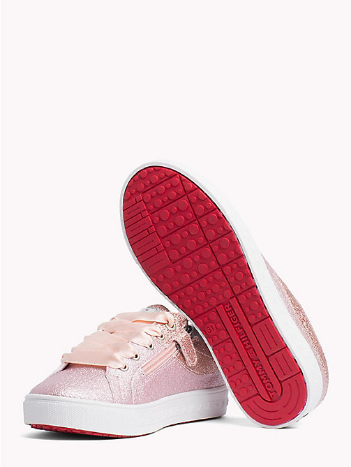 TOMMY HILFIGER Sparkly Lace-Up Trainers - PINK - TOMMY HILFIGER Shoes & Accessories - detail image 1