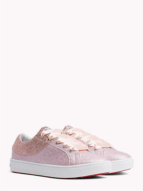 TOMMY HILFIGER Sparkly Lace-Up Trainers - PINK - TOMMY HILFIGER Shoes & Accessories - main image