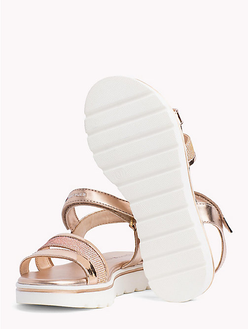 TOMMY HILFIGER Metallic Velcro Sandals - NUDE - TOMMY HILFIGER Girls - detail image 1