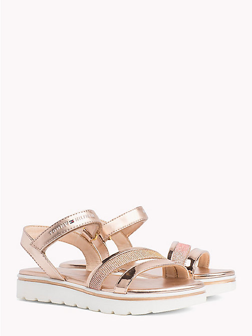 TOMMY HILFIGER Metallic Velcro Sandals - NUDE - TOMMY HILFIGER Girls - main image