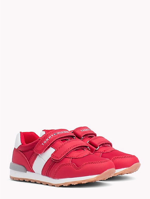 TOMMY HILFIGER Baskets colour-block à attaches Velcro - RED/WHITE - TOMMY HILFIGER Chaussures & Accessoires - image principale