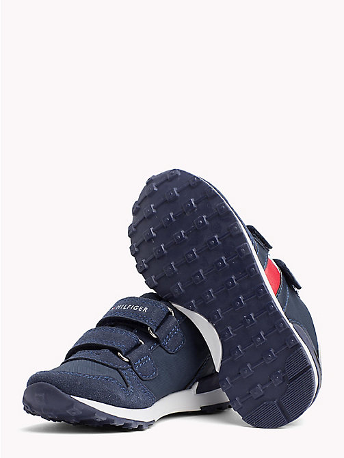 TOMMY HILFIGER Colour-Blocked Velcro Trainers - BLUE/WHITE - TOMMY HILFIGER Shoes & Accessories - detail image 1