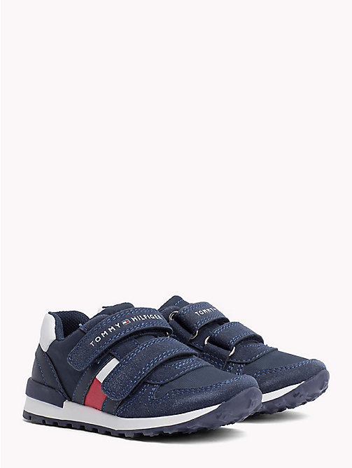 TOMMY HILFIGER Colour-Blocked Velcro Trainers - BLUE/WHITE - TOMMY HILFIGER Shoes & Accessories - main image