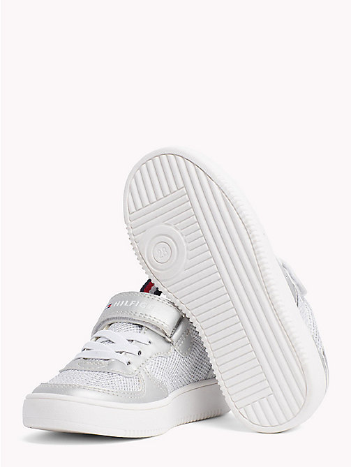 TOMMY HILFIGER Glitter Velcro Trainers - SILVER - TOMMY HILFIGER Shoes & Accessories - detail image 1