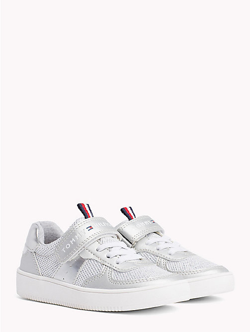 TOMMY HILFIGER Glitter Velcro Trainers - SILVER - TOMMY HILFIGER Shoes & Accessories - main image
