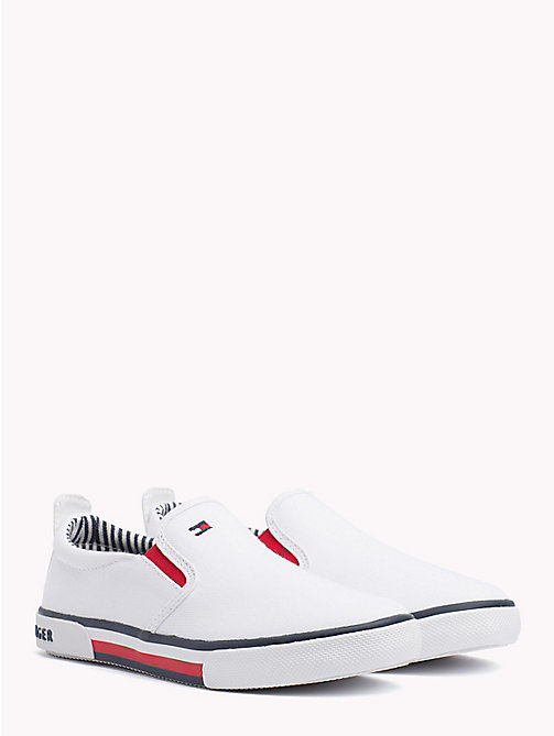 TOMMY HILFIGER Colour-Blocked Slip-On Shoes - WHITE - TOMMY HILFIGER Girls - main image