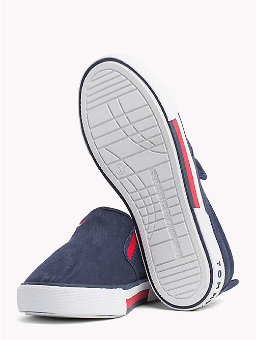 TOMMY HILFIGER Colour-blocked slip-on schoen - BLUE - TOMMY HILFIGER Jongens - detail image 1