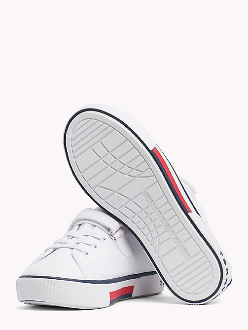 TOMMY HILFIGER Flag Logo Strap Trainers - WHITE -  Boys - detail image 1