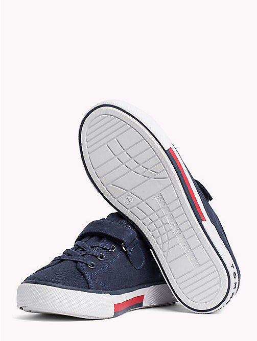 TOMMY HILFIGER Flag Logo Strap Trainers - BLUE - TOMMY HILFIGER Shoes & Accessories - detail image 1