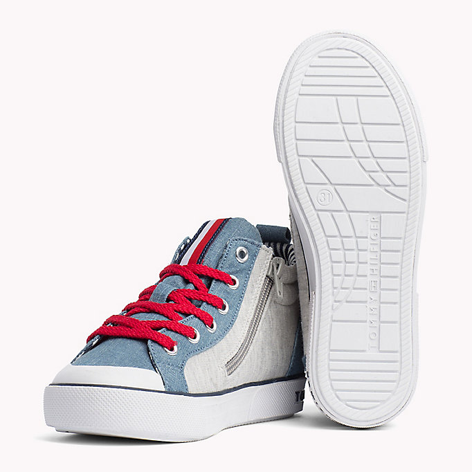TOMMY HILFIGER High-Top Lace-Up Trainers - WHITE - TOMMY HILFIGER Kids - detail image 1