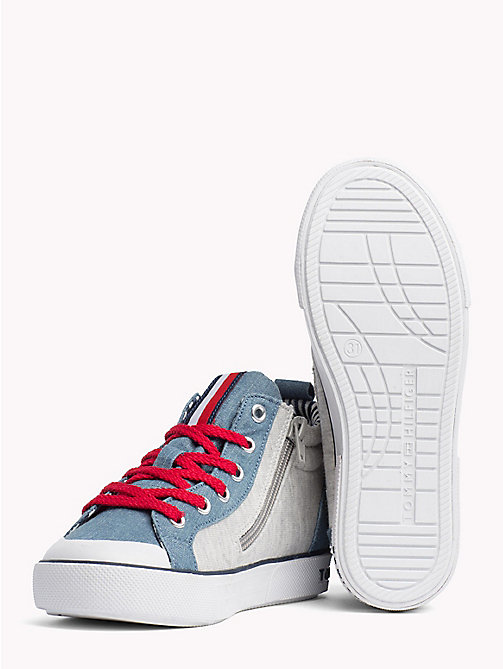 TOMMY HILFIGER High-Top Lace-Up Trainers - JEANS/GREY -  Shoes & Accessories - detail image 1