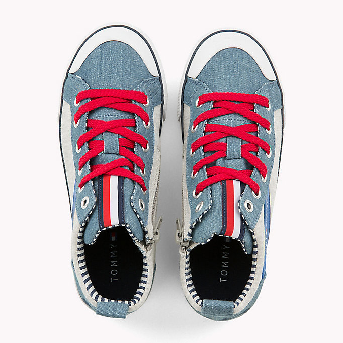 TOMMY HILFIGER High-Top Lace-Up Trainers - WHITE - TOMMY HILFIGER Kids - detail image 3
