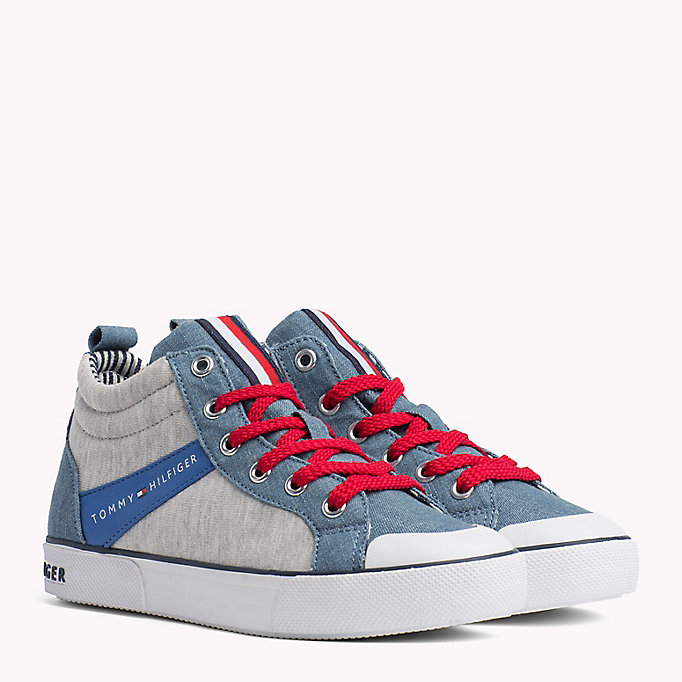TOMMY HILFIGER High-Top Lace-Up Trainers - WHITE - TOMMY HILFIGER Kids - main image
