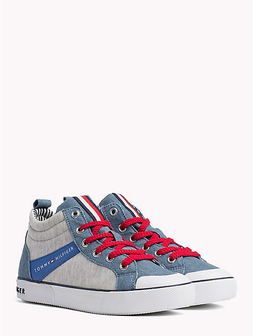 TOMMY HILFIGER High-Top Lace-Up Trainers - JEANS/GREY - TOMMY HILFIGER Shoes & Accessories - main image