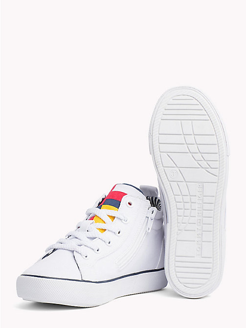 TOMMY HILFIGER High-Top Lace-Up Trainers - WHITE - TOMMY HILFIGER Shoes & Accessories - detail image 1
