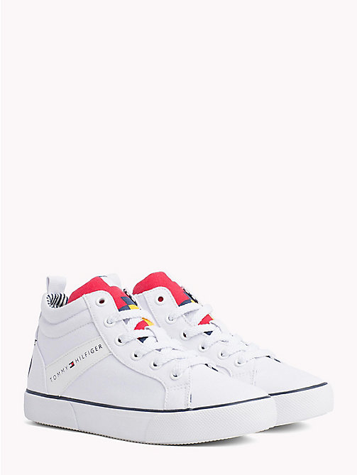 TOMMY HILFIGER High-Top Lace-Up Trainers - WHITE - TOMMY HILFIGER Shoes & Accessories - main image