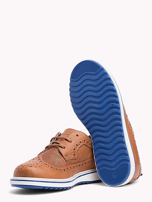 TOMMY HILFIGER Lace-Up Contrast Sole Brogues - BROWN - TOMMY HILFIGER Shoes & Accessories - detail image 1