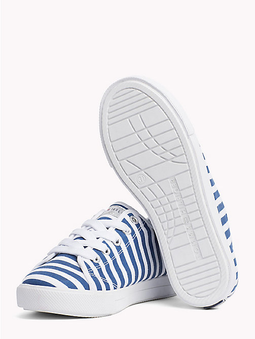 TOMMY HILFIGER Stripe Print Trainers - WHITE/BLUE - TOMMY HILFIGER Girls - detail image 1