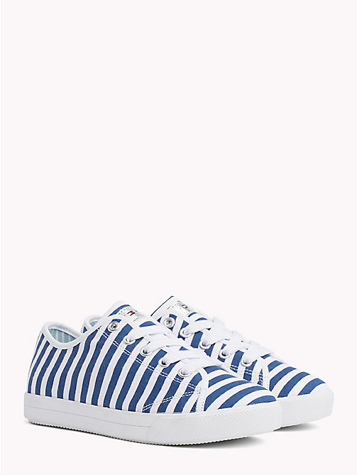 TOMMY HILFIGER Stripe Print Trainers - WHITE/BLUE - TOMMY HILFIGER Shoes & Accessories - main image