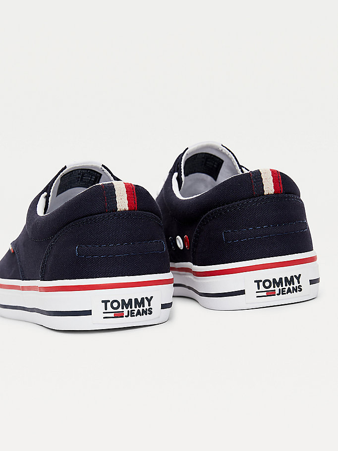 TOMMY JEANS Textile Logo Trainers - BLACK - TOMMY JEANS Men - detail image 1