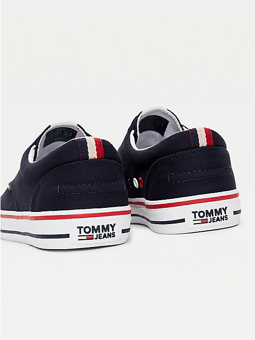 TOMMY JEANS Textile Logo Trainers - INK -  Shoes - detail image 1