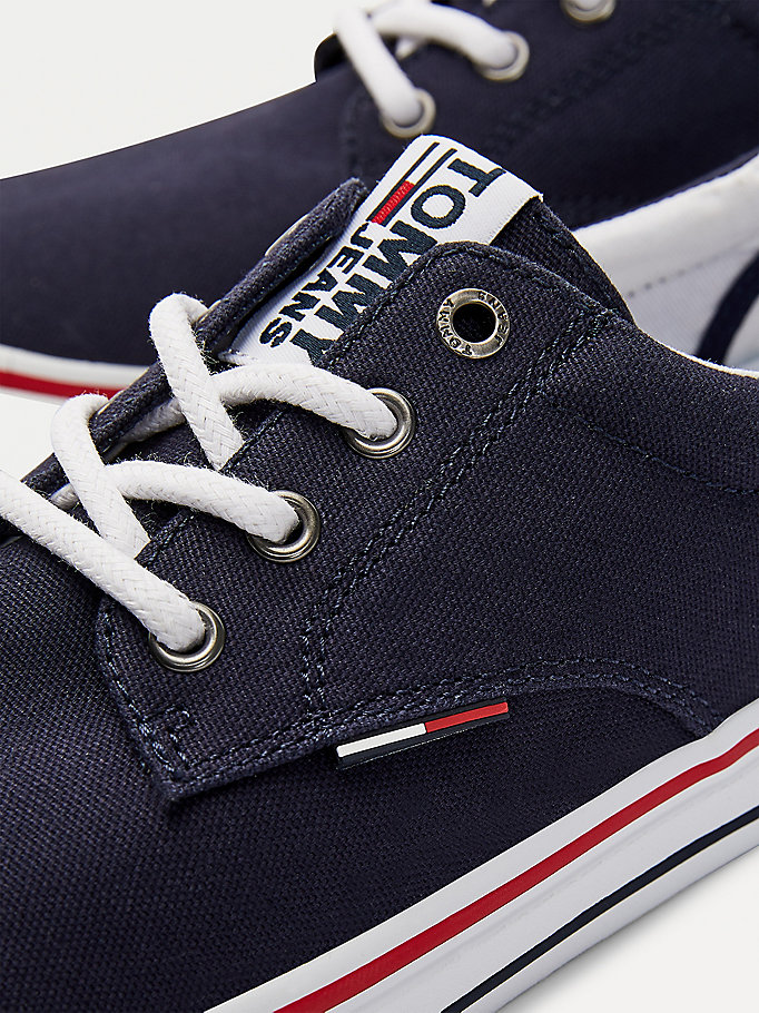 TOMMY JEANS Textile Logo Trainers - BLACK - TOMMY JEANS Men - detail image 2
