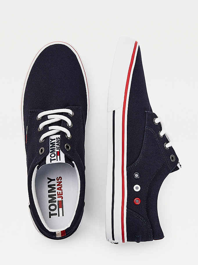 TOMMY JEANS Textile Logo Trainers - BLACK - TOMMY JEANS Men - detail image 3