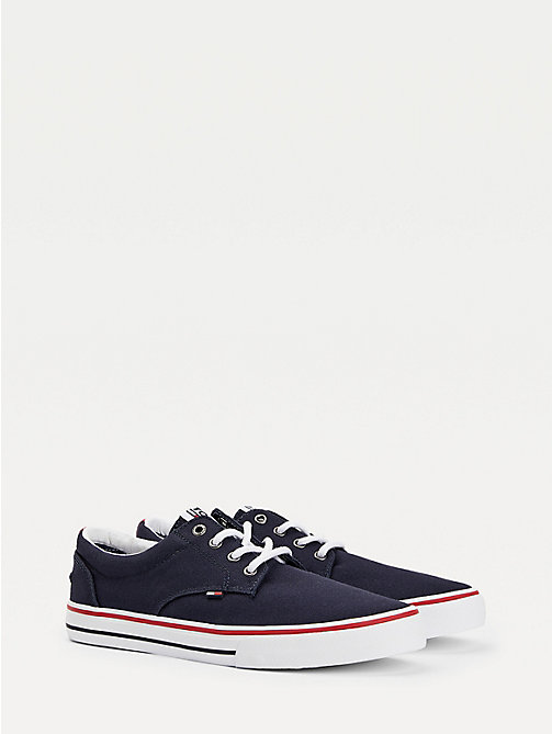 TOMMY JEANS Textile Logo Trainers - INK - TOMMY JEANS Tommy Jeans Shoes - main image
