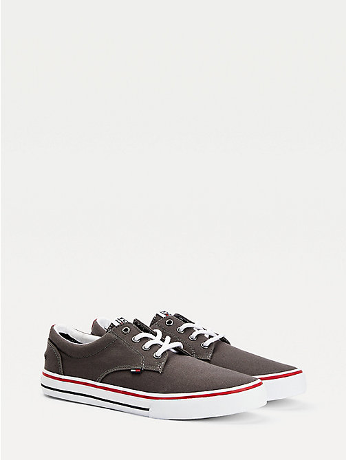 TOMMY JEANS Textile Logo Trainers - STEEL GREY - TOMMY JEANS Tommy Jeans Shoes - main image