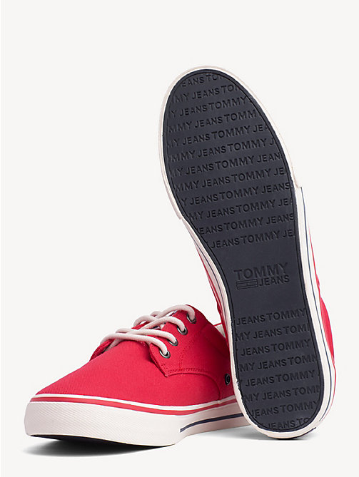 TOMMY JEANS Low Cut Textile Trainers - TANGO RED - TOMMY JEANS Shoes & Accessories - detail image 1
