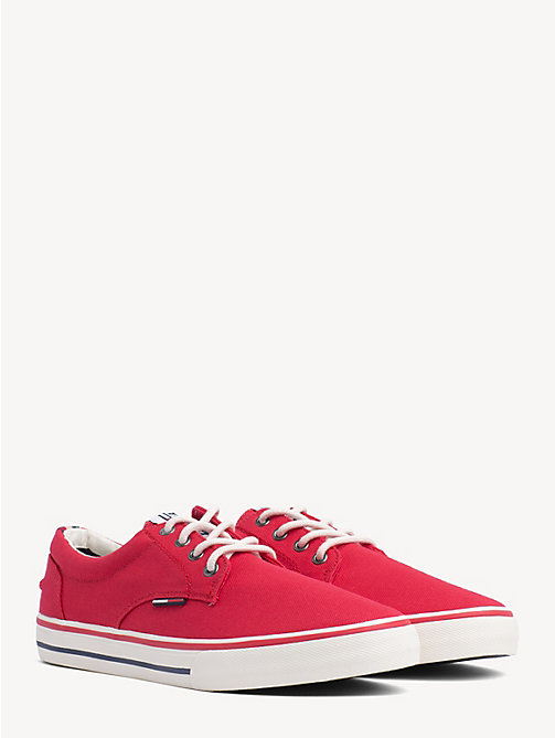 TOMMY JEANS Low Cut Textile Trainers - TANGO RED - TOMMY JEANS Shoes & Accessories - main image