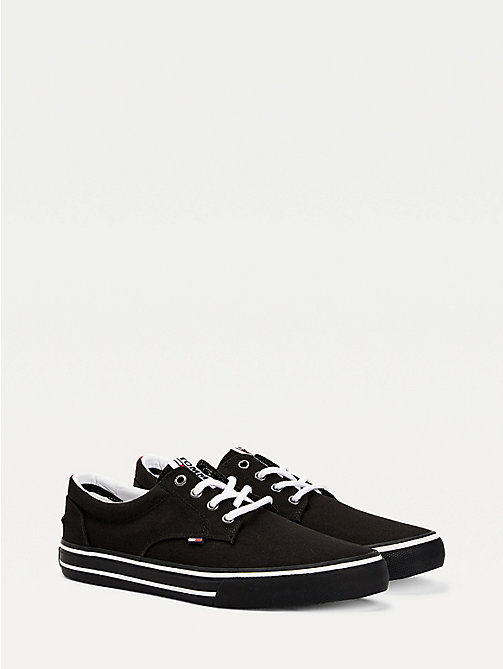 TOMMY JEANS Textile Logo Trainers - BLACK - TOMMY JEANS Tommy Jeans Shoes - main image